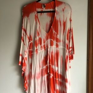 Tie Die T Shirt Dress / Cover Up